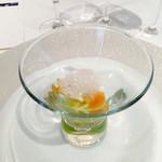 ラ ジュネス - アミューズ:春キャベツとつぶ貝のマリネ