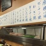 鳥竹 - 店内壁のニュー