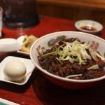 天一 - 牛肉飯(搾菜付)☆
