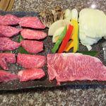焼肉 金牛 - 平茂7号セット(デザート付き、8,000円)