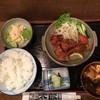 手羽先太郎 - 料理写真:本日のランチ 鶏の唐揚げとポテトサラダ、赤だし