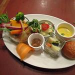 バッカ - 料理写真:自然派ランチセット 前菜盛り