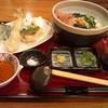 杵屋 - 料理写真:あかもく ねばとろ うどん 春の天ぷら添え