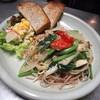 喫茶ひるねこ - 料理写真:「今日のごはん」の一品となる「春野菜のフレッシュトマトソーススパゲティー」