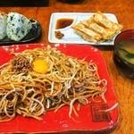 バソキ屋 - Bランチ(辛玉焼そば)