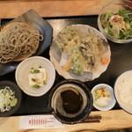 国分寺そば - 野菜の天ぷら定食1,200円