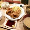 ひびか食堂 - 料理写真:とり天定食 ご飯少なめ¥670。とり天や小鉢も以前と変わらず美味しかったですが、お味噌汁とご飯が安定して美味しいのもポイントが高いです。