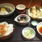 和食さと - 豆ごはんと彩りとろろそば膳 1390円
