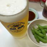 名代ラーメン亭 - 枝豆6 餃子5 淡麗 400円税込み 安い サラリーマンの味方