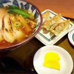 三宝亭 - 煮干しチャーシューと餃子セット