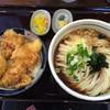 はるりん - 料理写真:とり玉天丼ランチ 麺大盛り(1.5倍)無料d(^_^o)