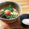箱根山の暁そば - 料理写真:冷製明太蕎麦・うどん 820円かねふくの辛子明太子を使ったさっぱりな逸品です。