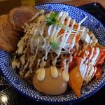 つけ麺専門店 二代目YUTAKA - 満漢全席的オールインワンな油そば(2016年3月26日)