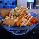 つけ麺専門店 二代目YUTAKA - 極油そば(特盛、2016年3月26日)