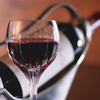 ワインの種類も多数!お肉にはやっぱりワインです♪