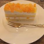 珈琲 文明 - 桃とリンゴのケーキ