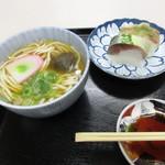 50967966 - うどんと鯖寿司セット ¥1,000