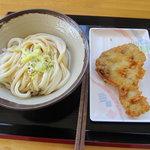 たかのはし - しょうゆうどんと鶏の天ぷら