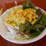 長江 - 一回しか盛れないのでサラダバーというよりただ単に自分で好きなように盛り付けられるサラダ
