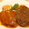 キッチンむらうち - 料理写真:サービスディナー(ハンバーグ&ミンチカツ)