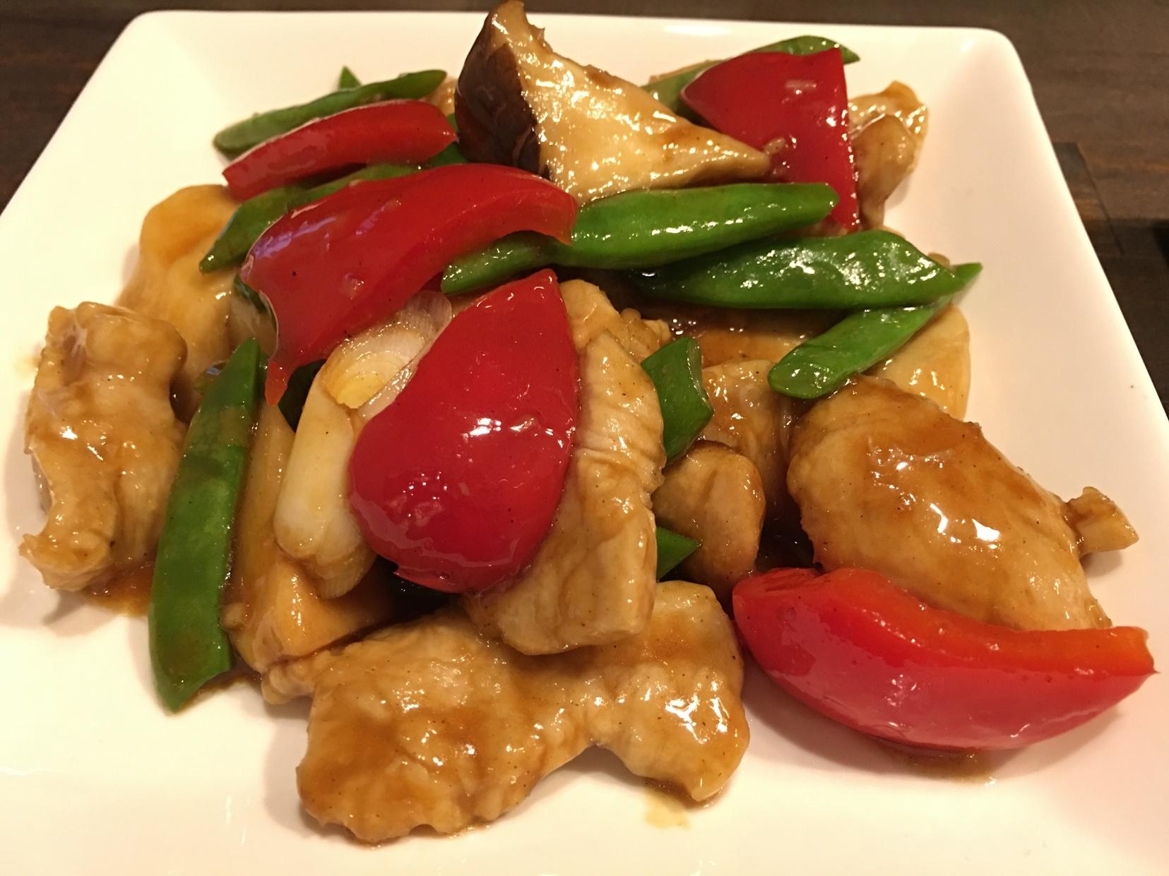 蠔油炒肉片(豚肉のオイスターソース炒め)