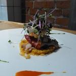 中之島ソーシャルイートアウェイク - 魚介のタブレ 魚貝のマリネとクスクスのサラダ仕立て