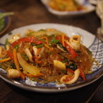 韓国家庭料理 青山 - 海鮮チャプチェ
