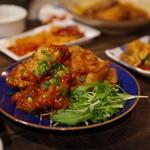 韓国家庭料理 青山 - 鶏唐揚げ