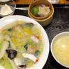 ぷんぷくまる - 料理写真:海鮮あんかけそばのセット(揚げ麺、炒め麺、茹で麺から選べます)