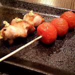 51104155 - コース串焼き(ももかぶり・トマト)