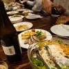 ブライトン ベル - 料理写真:本日の前菜3品とサラダ、字カルパッチョ