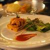 ブルーバイユー・レストラン - 料理写真:シェフのおすすめコース:ケイジャンシュリンプと生ハムのオレンジマリネ、 クスクスのスクエアとベビーリーフ