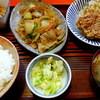 味安 - 料理写真:豚スタミナ炒め・唐揚げ・ヒレカツセット850円