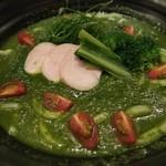 つるとんたん - 薬膳 ケールスープの おうどん(アップ)