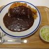 キッチン南海 - 料理写真:ロースカツカレー(800円)+2辛(20円) キャベツトッピングサービス