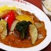 だいきちカレー - 料理写真:揚げ野菜カレー(S)&野菜サラダ