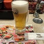 平禄寿司 - ビール