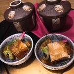 51205116 - 前菜★                       旨み鶏の煮凝り新鮮卵のカニ身茶碗蒸し