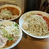 豚星。 - 料理写真:【限定】しお+つけ麺+大盛 何故か3丼で出てきたwww