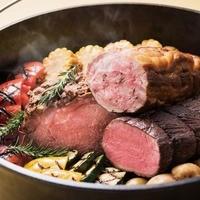 3種肉のロティ 野菜のグリル添え