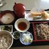 寿作 - 料理写真:鱧と巻き海老の麦とろ御膳 十割蕎麦 1380円