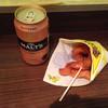金のとりから - 料理写真:モルツ370円と唐揚げシングル290円