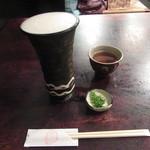 寺方蕎麦 長浦 - 生ビール「ヱビス」(2016/5)