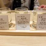 仙臺驛日本酒バル ぷらっと - 日本酒飲み比べセット②