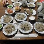 天通 - 料理写真:皿そば(5皿1人前)