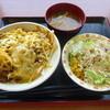 すき家 - 料理写真:とろ~り3種のチーズ牛丼(中盛)サラダセット