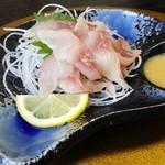 鯉西 - 「鯉あらい」¥700