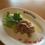 クアットロクオーリ - チョイ飲みのおともは、イタリア野菜とガツ刺し・・イタリア野菜ってパセリのことかしら^^;