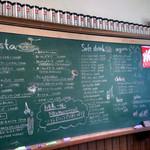 パンドーゾカフェ - 黒板のメニュー