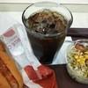 サンテオレ - 料理写真:ホットドック + コーヒー + サラダ